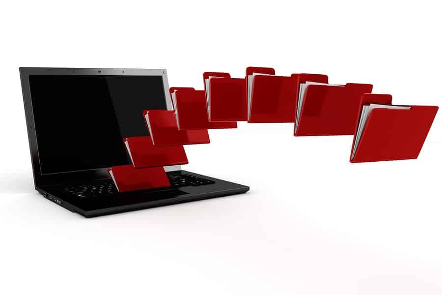 Scanned folders in computer