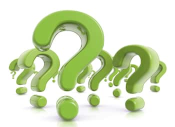 Group of Green Question Marks