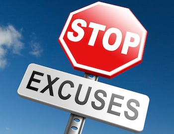 Stop Sign Stop Excuses